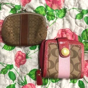 Coach change purses
